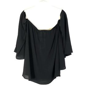 Peace Love Cake Off the Shoulder blouse black M